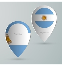 paper of map marker for maps argentina vector image vector image