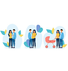 3 showing scenes from couple s vector image