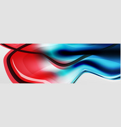 Abstract background flowing liquid style vector