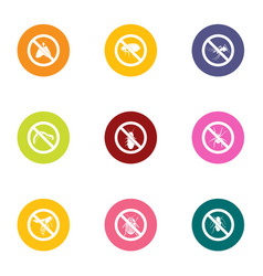 antidote icons set flat style vector image