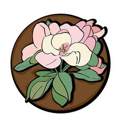 apple flower clip art brown vector image