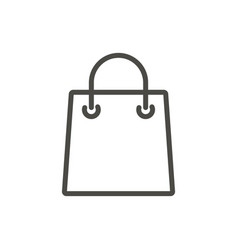 bag icon line shopping gift symbol vector image