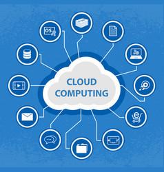 big data cloud computing concept vector image