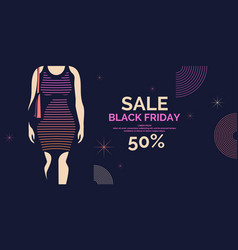 black friday banner big sales trendy poster to vector image