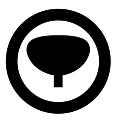 bladder the black color icon in circle or round vector image
