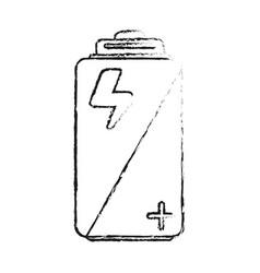 Blurred silhouette image cartoon alkaline battery vector