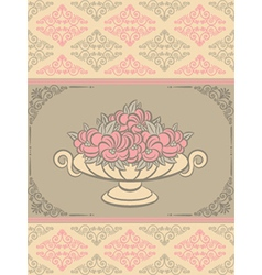BOwl of flowers vector image