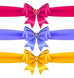 bows heart vector image