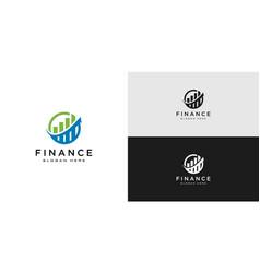 business finance logo design vector image