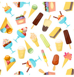 cartoon ice cream background pattern vector image