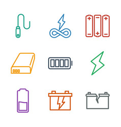 Charge icons vector