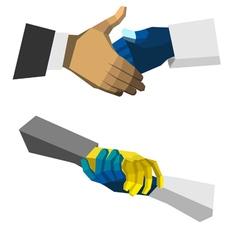check hand polygon vector image