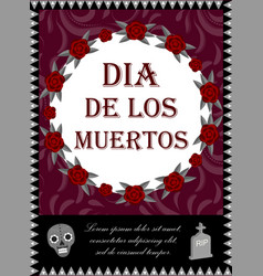 Day of the dead flyer poster invitation dia de vector