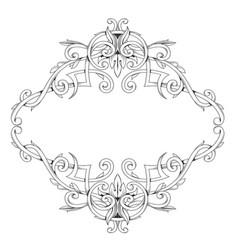 elegant frame in baroque style vector image