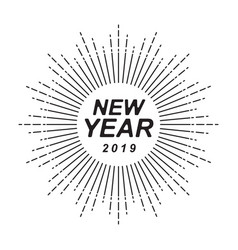 graphic happy new year vector image