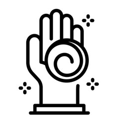 Hand hypnosis icon outline style vector