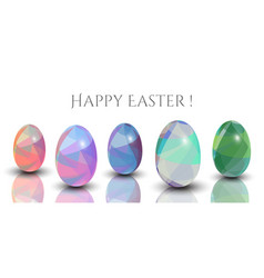 happy easter cards - abstract triangle pattern 3d vector image