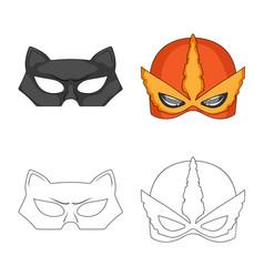 Hero and mask symbol vector
