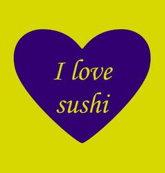 I love sushi logo template design vector