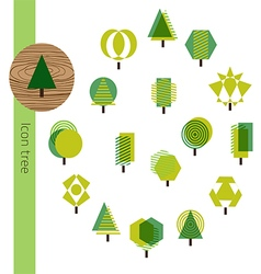 Icon Tree Wood vector image