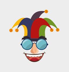 Idiot mask crazy icon vector