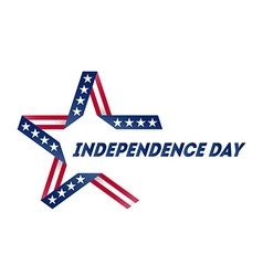 independence day star made ribbon in national vector image