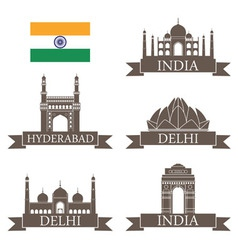 India vector image