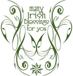Irish blessings insignia vector