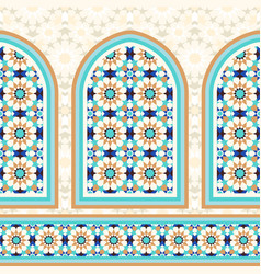 islamic architectural mosaic background vector image