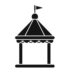 kid castle tent icon simple style vector image