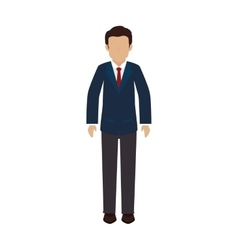 man guy person suit tie vector image