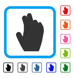 Manage hand framed icon vector