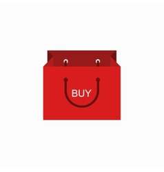 Modern shopping buy icon on white vector
