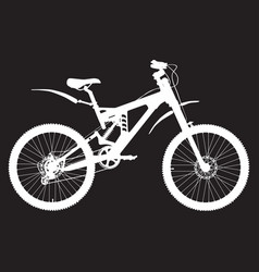 mountain bike silhouette vector image