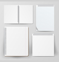 Notebook set with coil spiral spiral vector