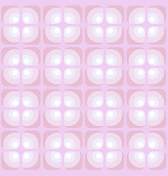 Pattern with dotted rounded and squared elements vector