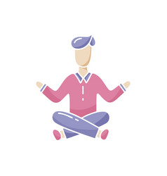 Person in lotus position calmness concentration vector