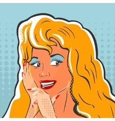 Pop Art Girl Whispers vector image