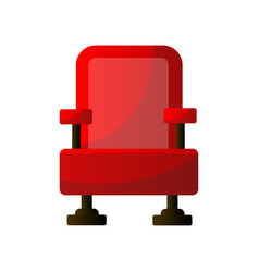 red soft cinema armchair textile material film vector image