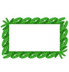 Restangular Christmas Floral Frame vector