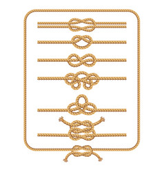 Rope knots collection vector