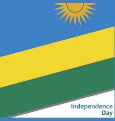 Rwanda independence day vector