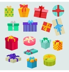 set gifts boxes design flat vector image