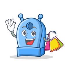 Shopping pencil sharpener character cartoon vector