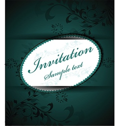 Simple invitation template vector