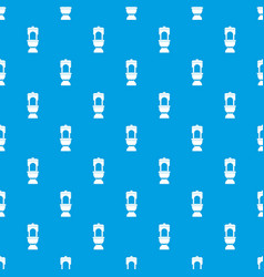 Toilet bowl pattern seamless blue vector