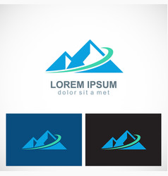 triangle mountain abstract logo vector image