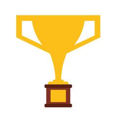 Trophy victory winner american football vector