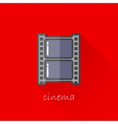 Vintage of a film strip in flat style with long vector
