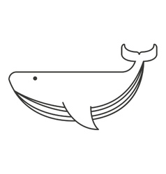 Whale big sea icon vector